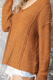 ee:some V Neck Sweater - Front full body