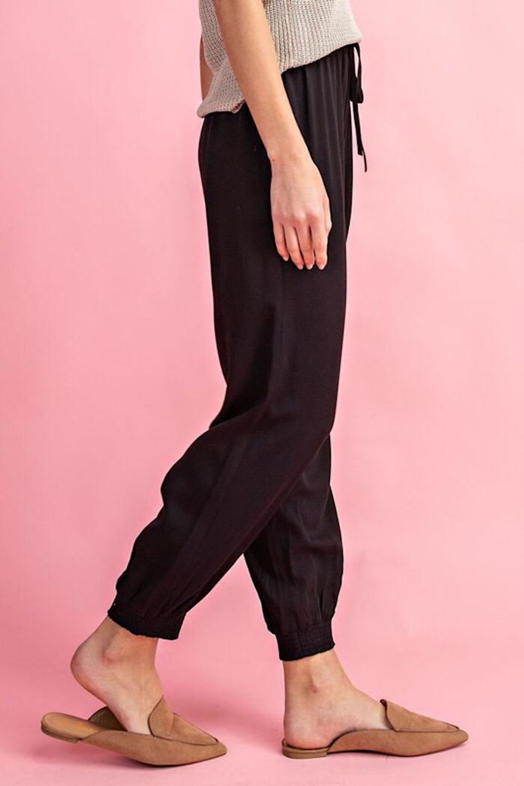ee:some Woven Drawstring Joggers - Side Cropped Image