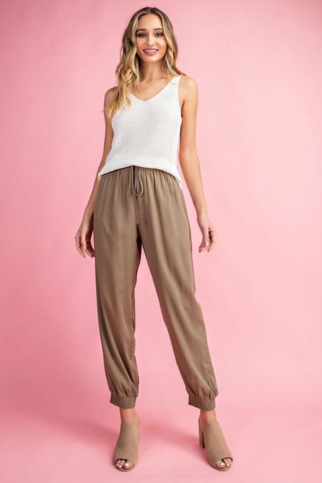 ee:some Woven Drawstring Joggers - Front Cropped Image