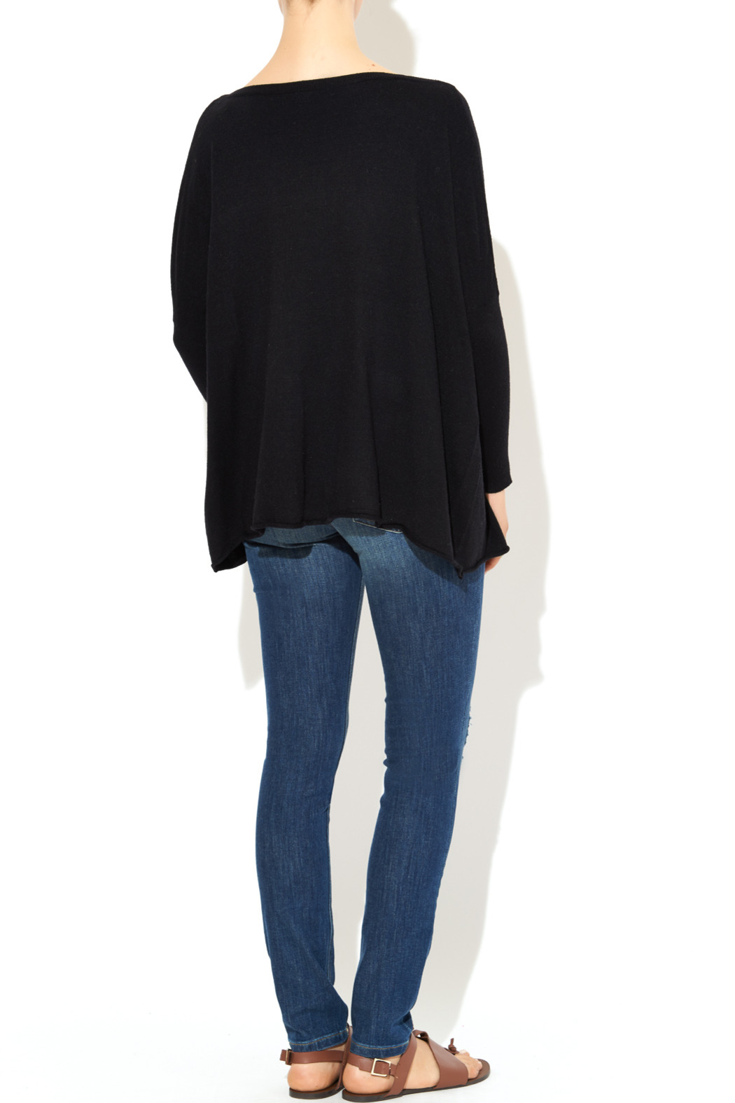 InStyle Black Dolman Sweater - Side Cropped Image