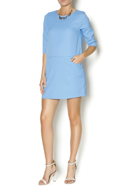 Everly Blue Shirt Dress - Front full body