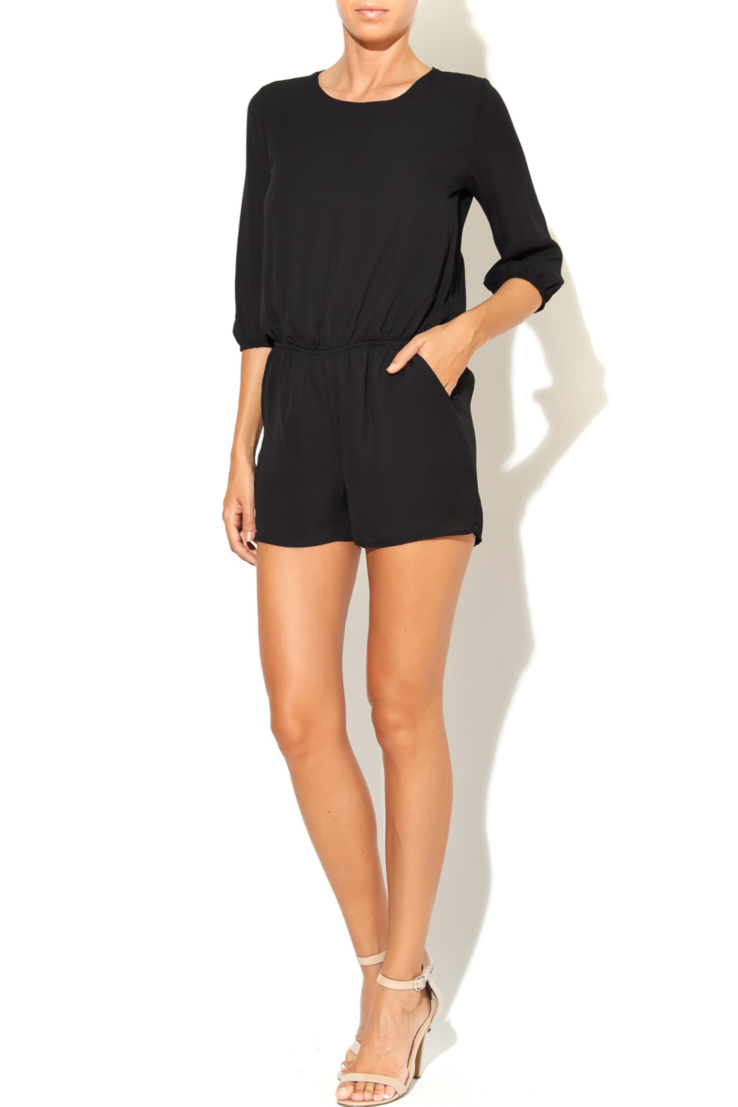 6b8ffdddbe2 Final Touch Black Open Back Romper from Florida by Stalhi Boutique ...