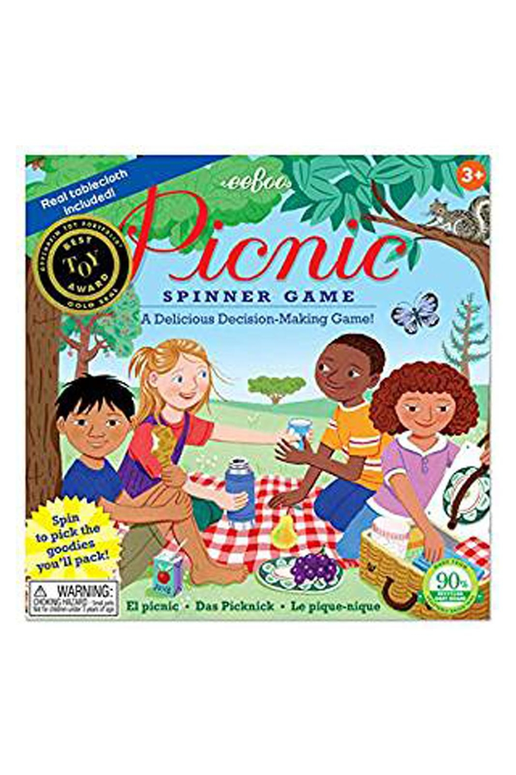 Eeboo Picnic Spinner Game - Main Image