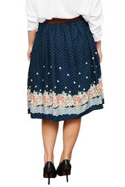 Comme Toi Floral Midi Skirt - Back cropped