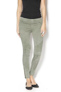Shoptiques Product: Moto Olive Leggings