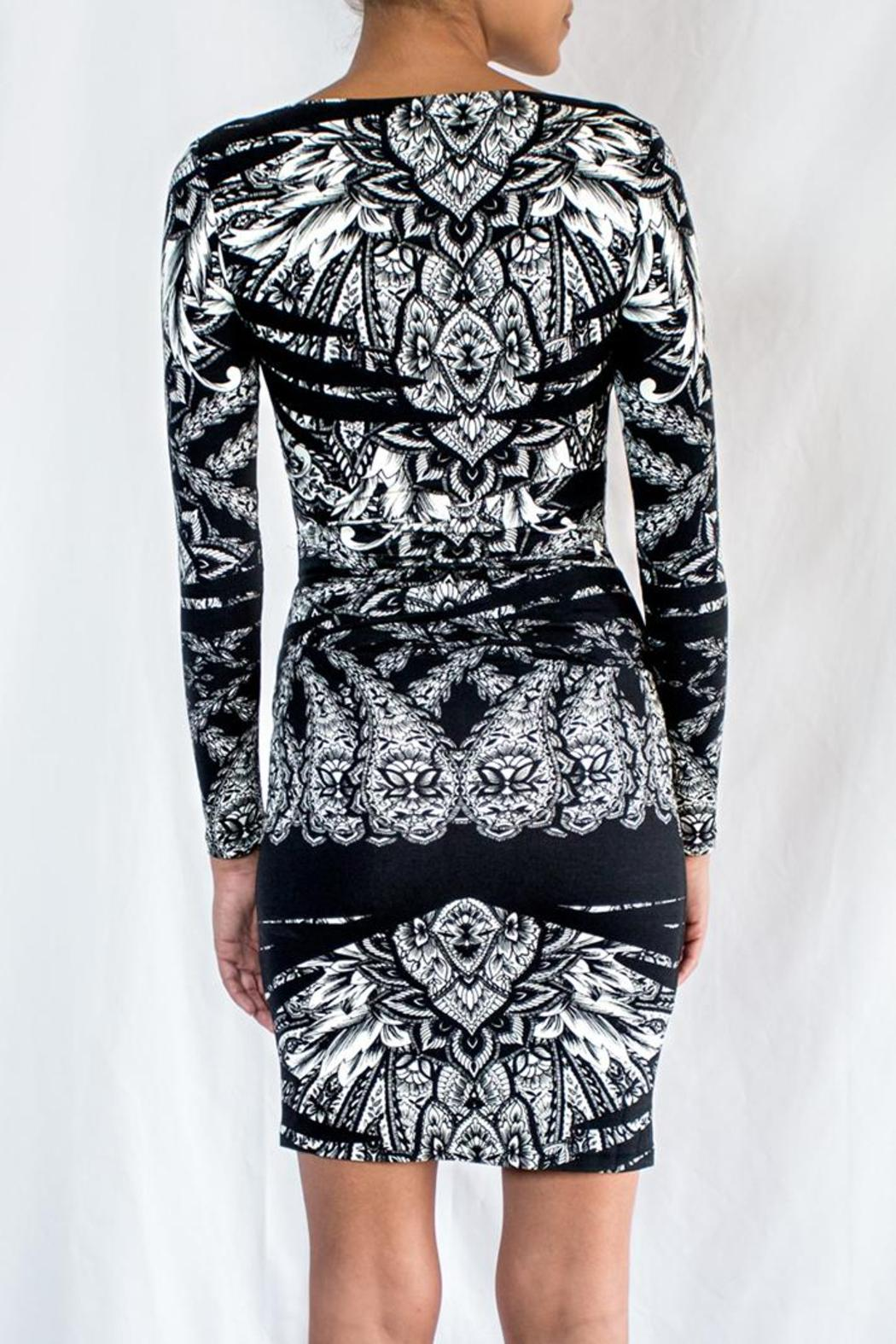 Nicole Miller Printed Jersey Dress - Back Cropped Image