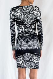 Nicole Miller Printed Jersey Dress - Back cropped
