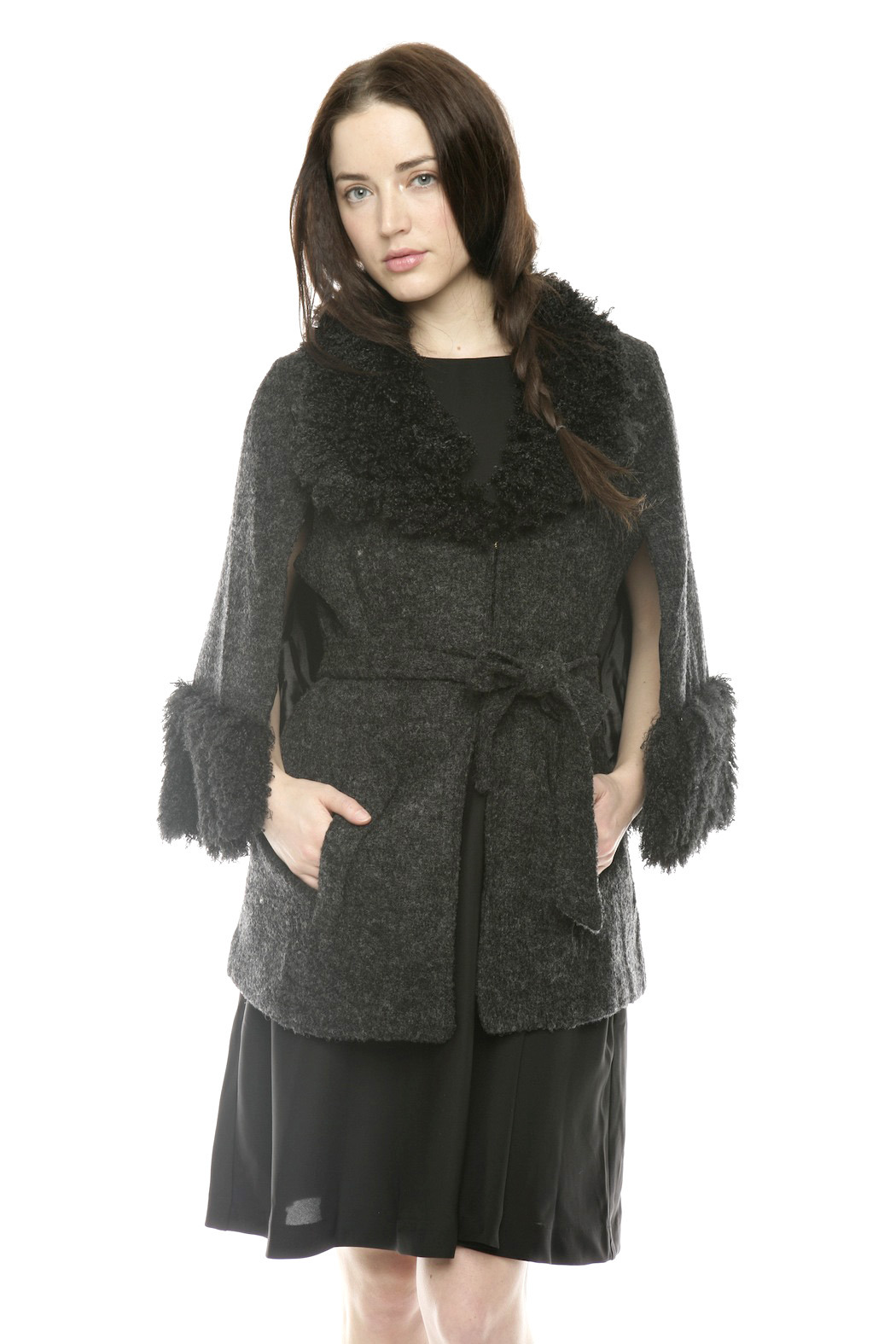 Ravel Furry Boucle Cape - Front Cropped Image