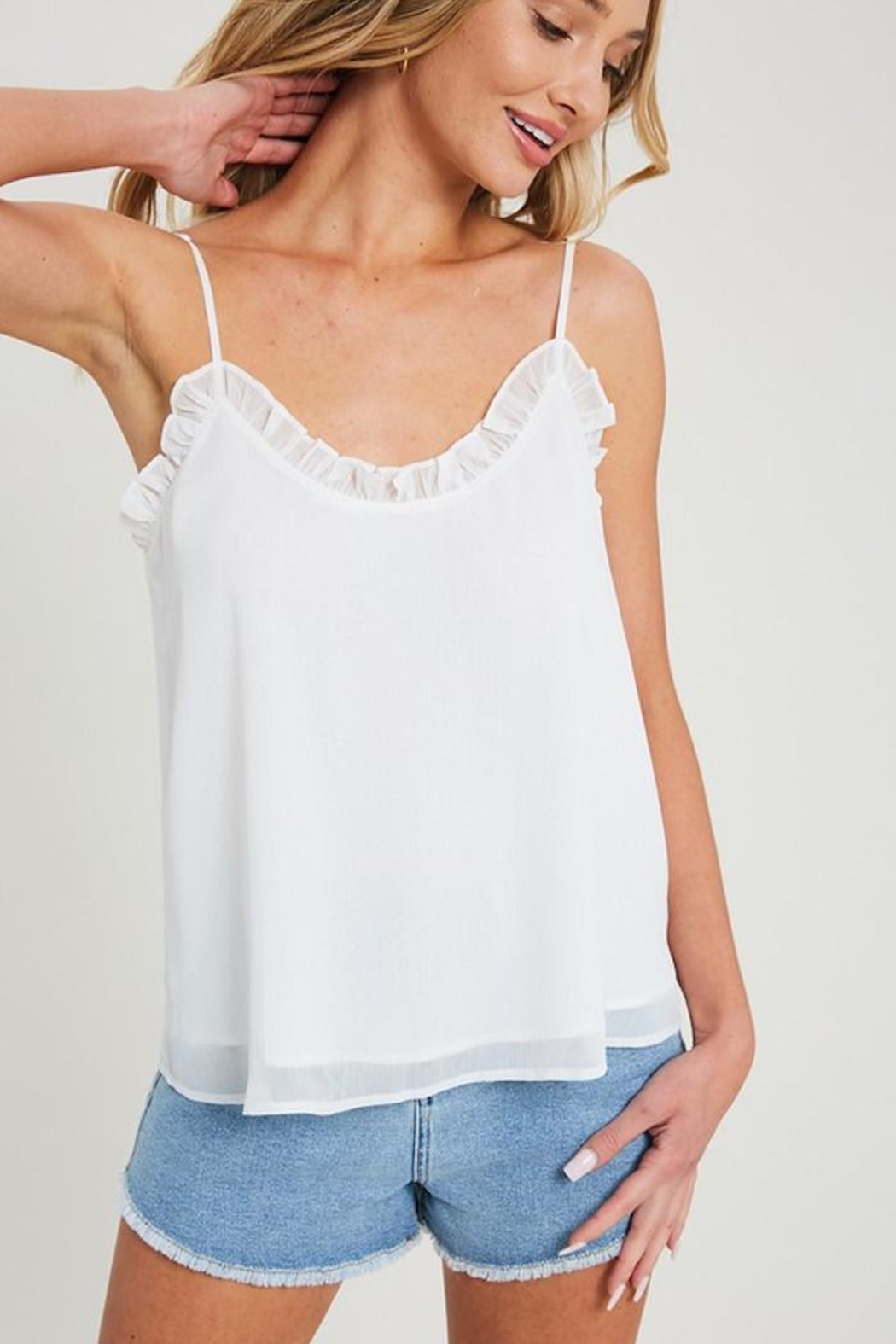 eesome Alittle Ruffle Tank - Back Cropped Image