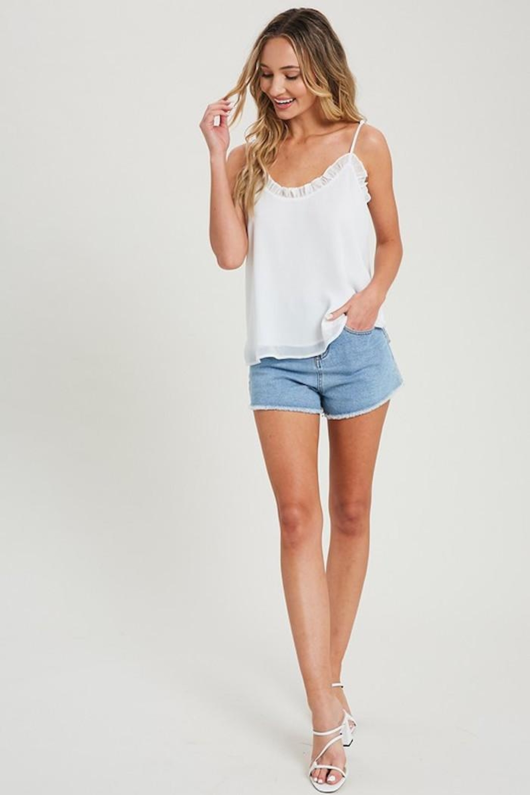 eesome Alittle Ruffle Tank - Front Full Image