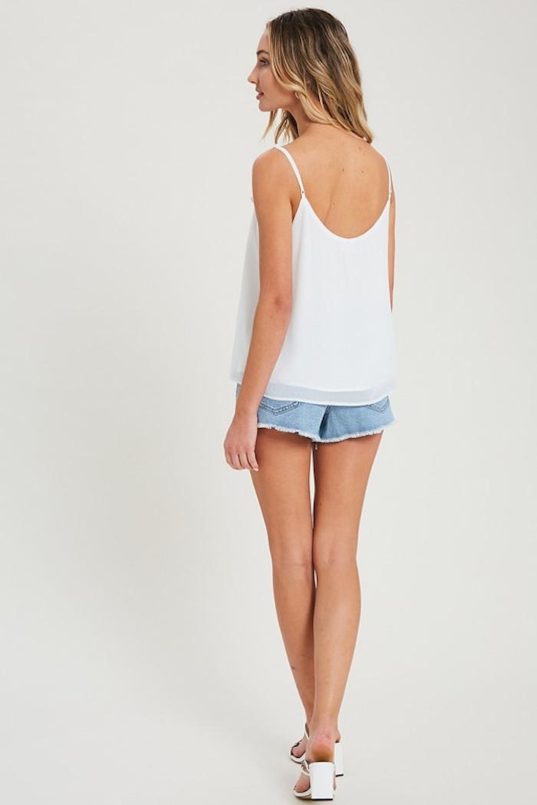 eesome Alittle Ruffle Tank - Side Cropped Image