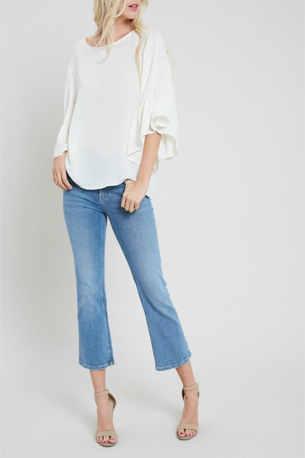eesome Boho Bell-Sleeve Top - Side Cropped Image