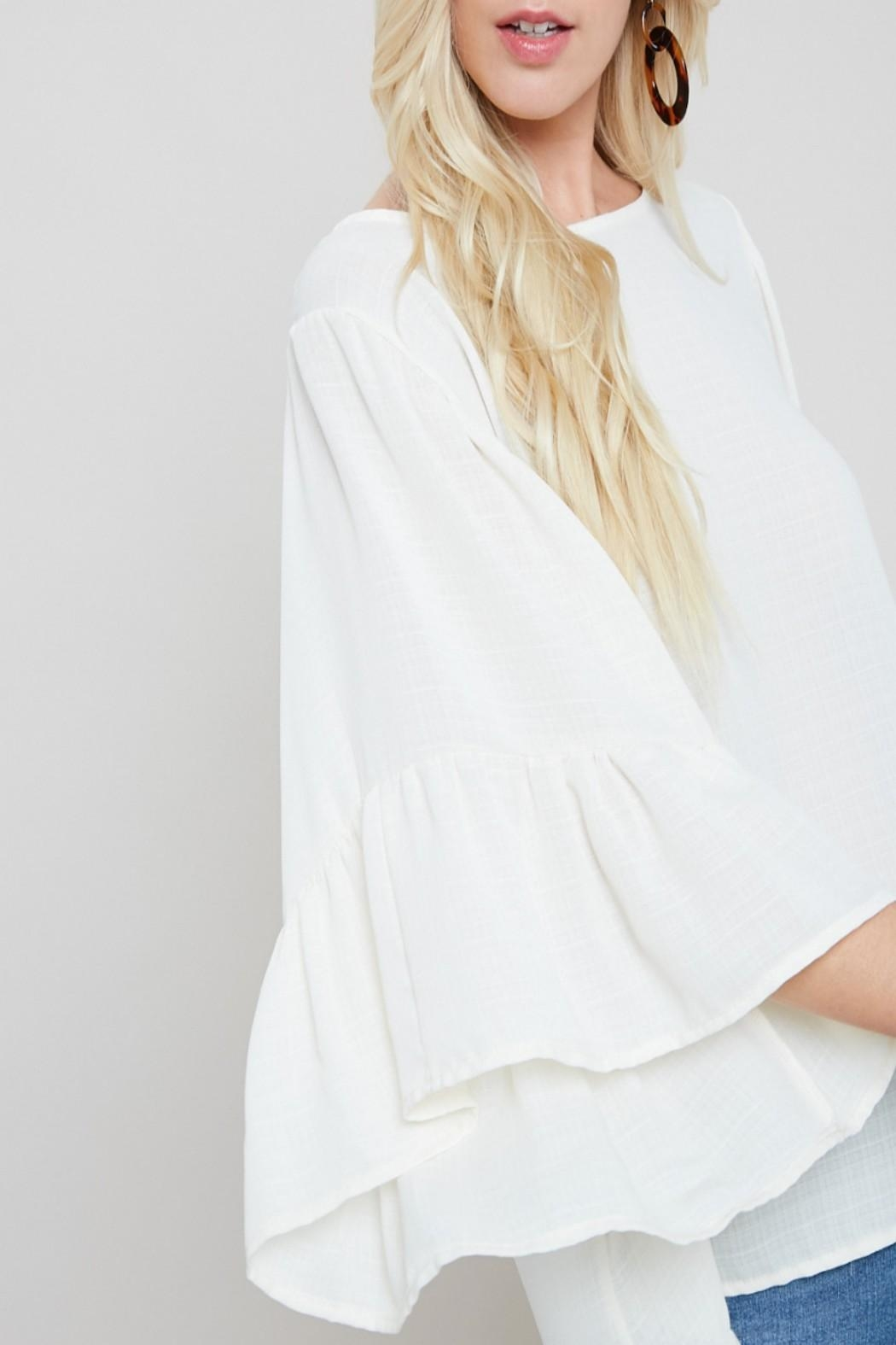 eesome Boho Bell-Sleeve Top - Front Full Image