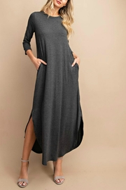 eesome Charcoal Pocketed Maxi Dress - Product Mini Image