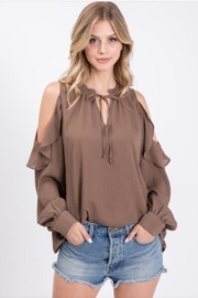 eesome Cold Shoulder Blouse - Product Mini Image