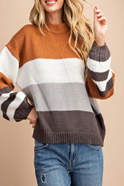 eesome Color-Block Pullover Sweater - Product Mini Image