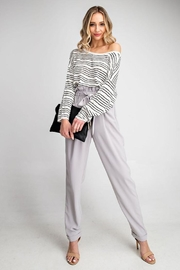 eesome Cross Back Sweater - Front cropped