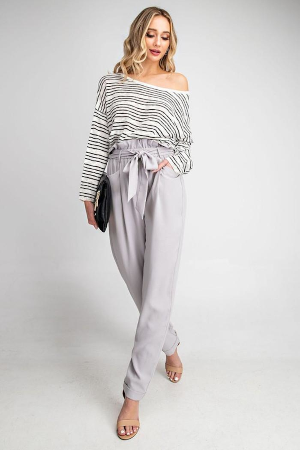 eesome Cross Back Sweater - Front Full Image