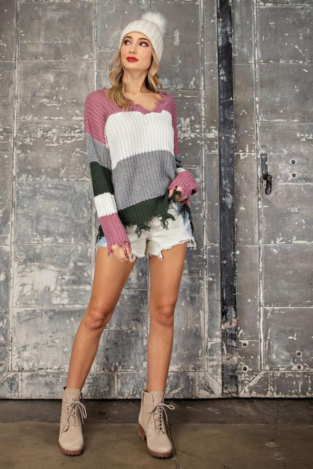 eesome Distressing Details Sweater - Main Image