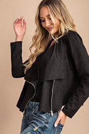 eesome Drape Front Suede-Jacket - Other