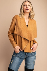 eesome Drape Front Suede-Jacket - Side cropped