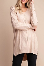 eesome Faux-Cashmere V-Neck Sweater - Product Mini Image