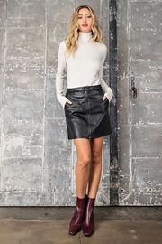 eesome Faux Leather Zipper Mini Skirt - Other