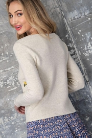 eesome Flower Embroidered Knit Cardigan Top - Other