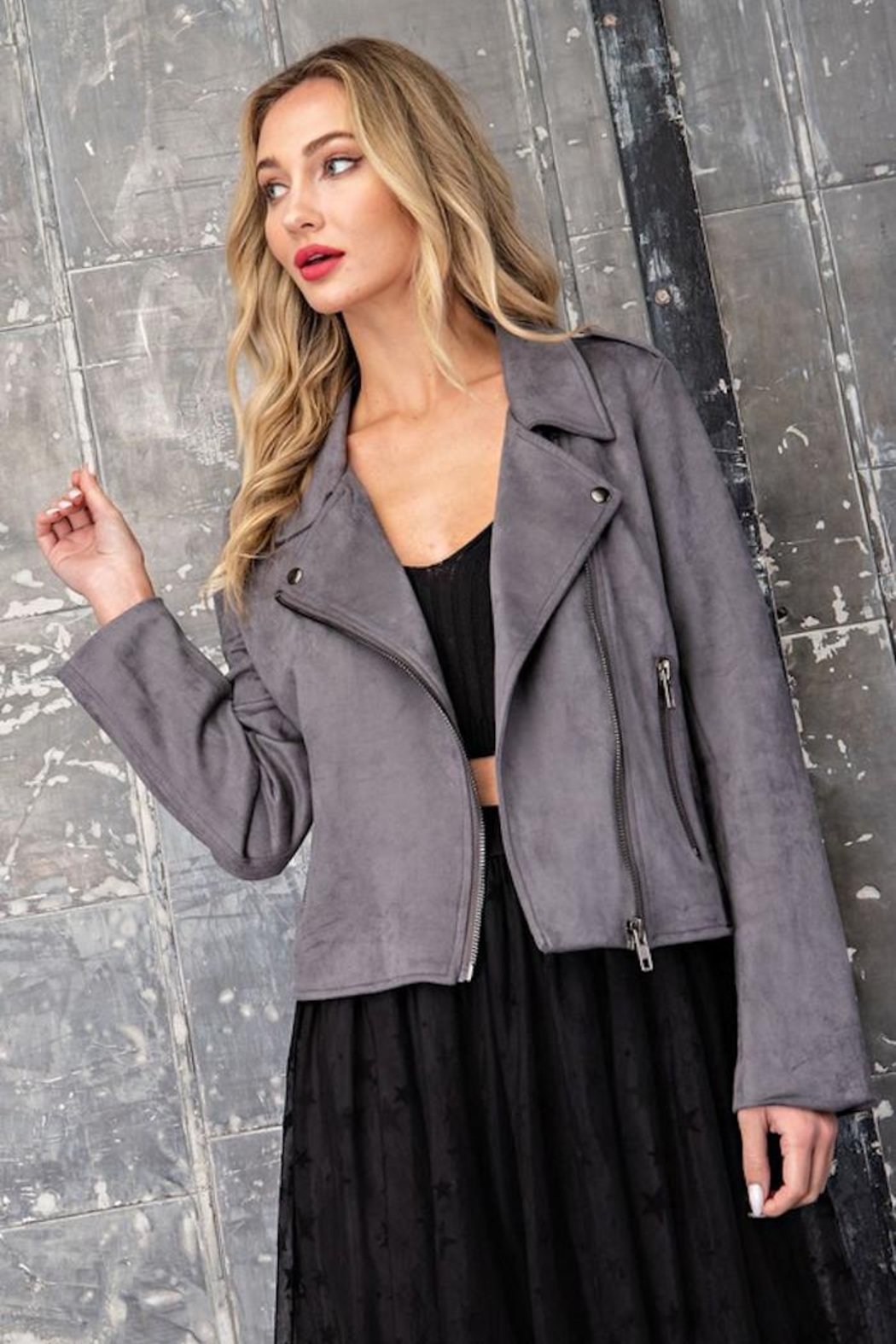 eesome Hello Moto Jacket - Side Cropped Image