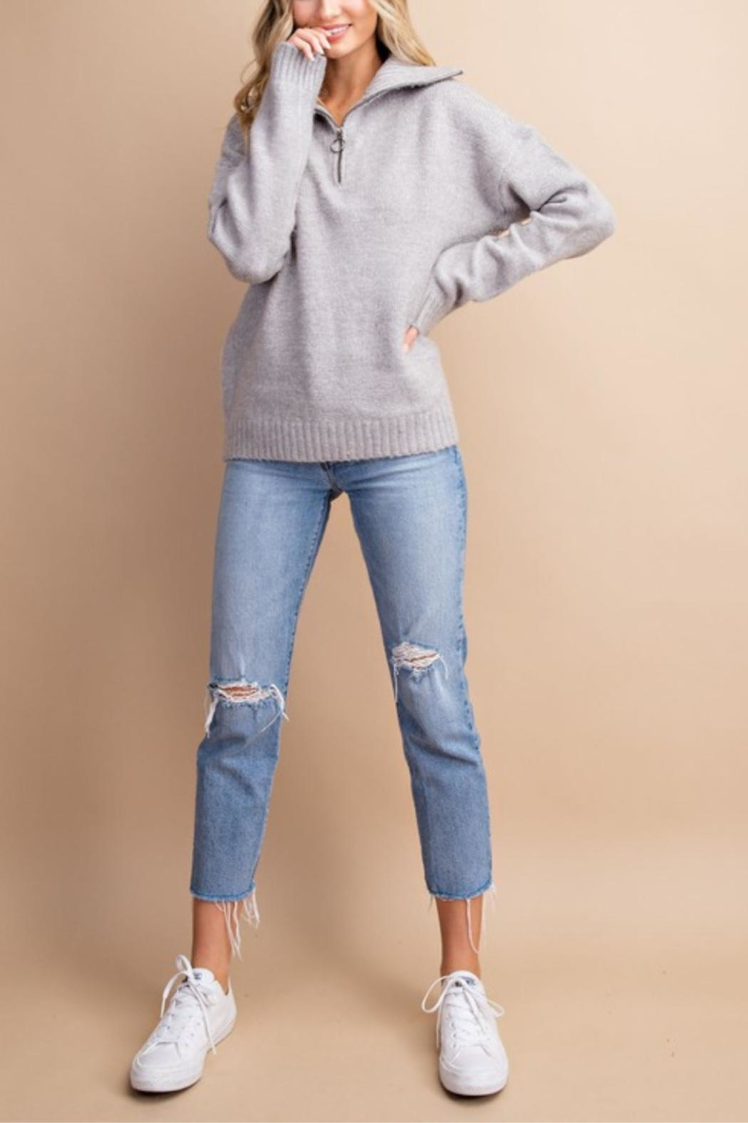 eesome High Hopes Sweater - Back Cropped Image