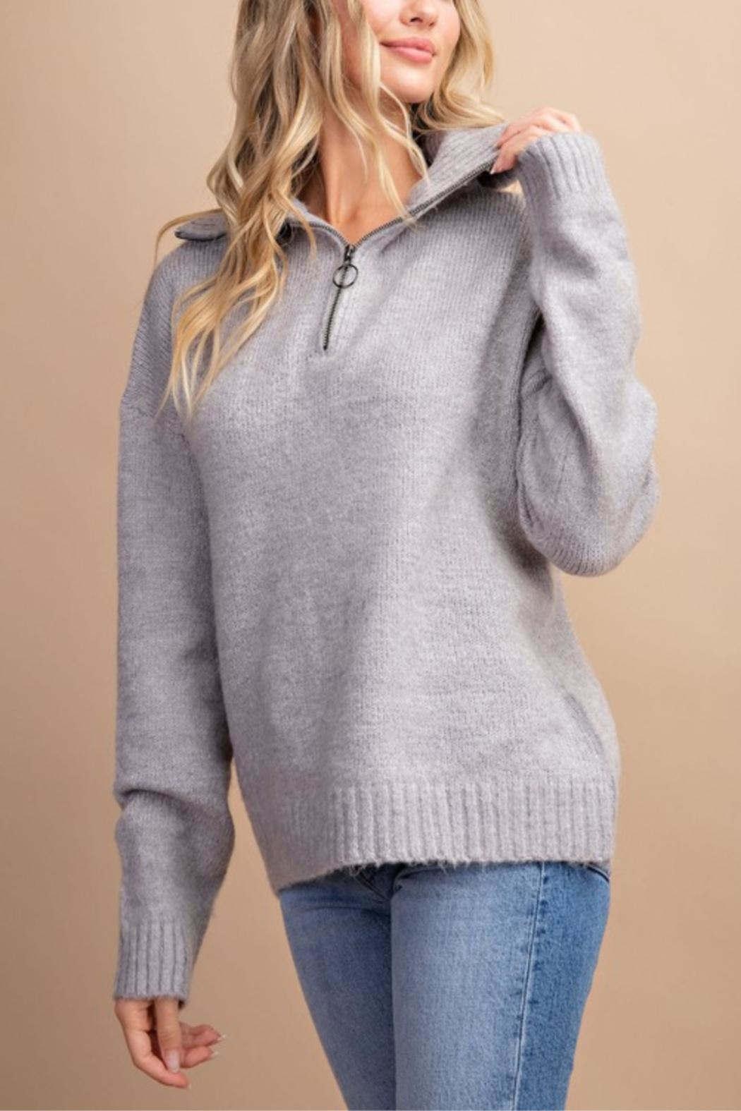 eesome High Hopes Sweater - Front Cropped Image