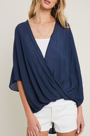 eesome High-Low Surplice Top - Front cropped