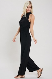 eesome Just Black Jumpsuit - Front full body