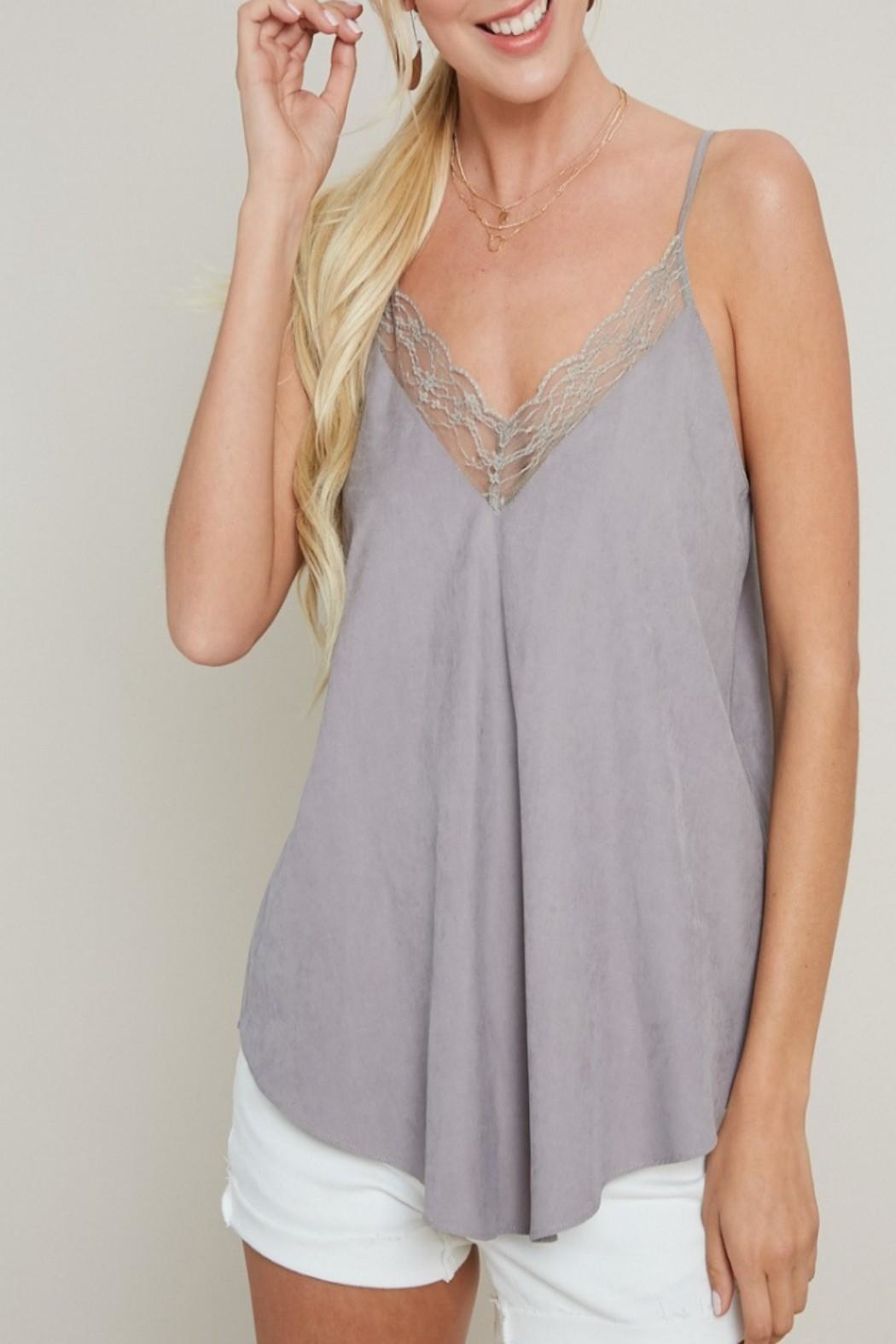 eesome Lace Cami Top - Side Cropped Image