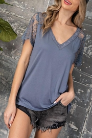 eesome Lace Sleeve Top - Product Mini Image