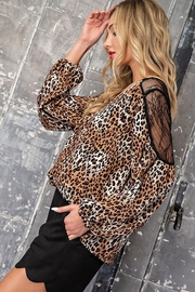 eesome Leopard Print V-Neck Blouse - Other