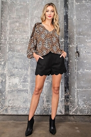 eesome Leopard Print V-Neck Blouse - Side cropped