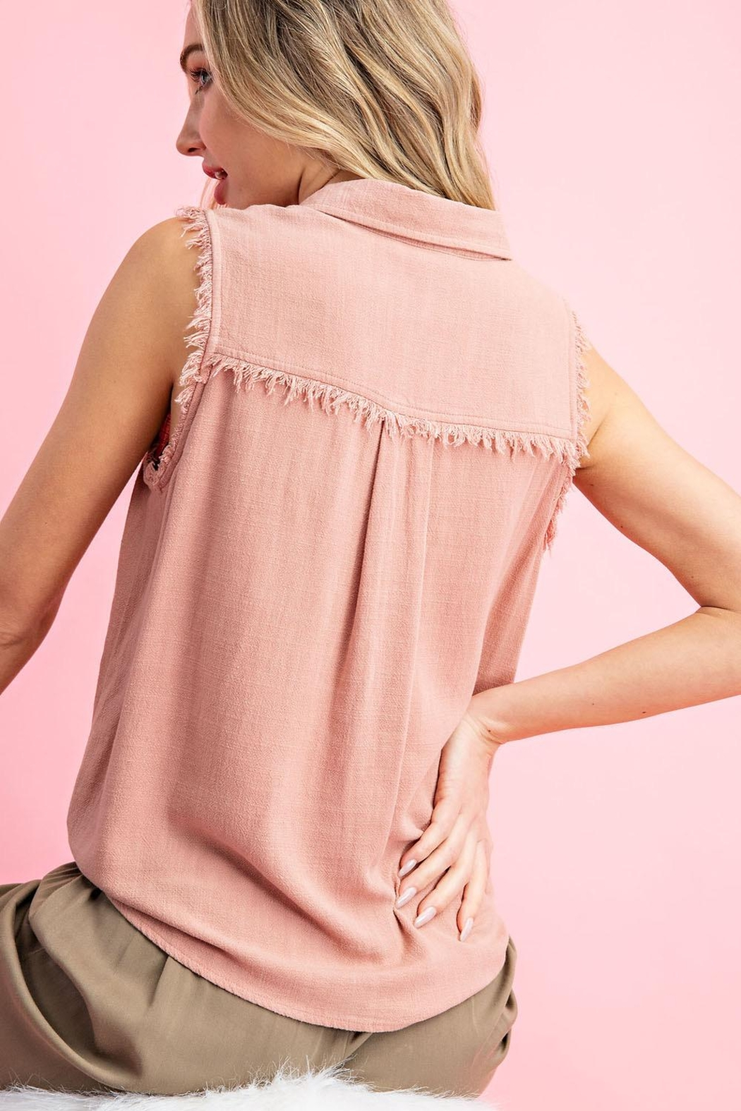 eesome Mauve Tank - Front Cropped Image