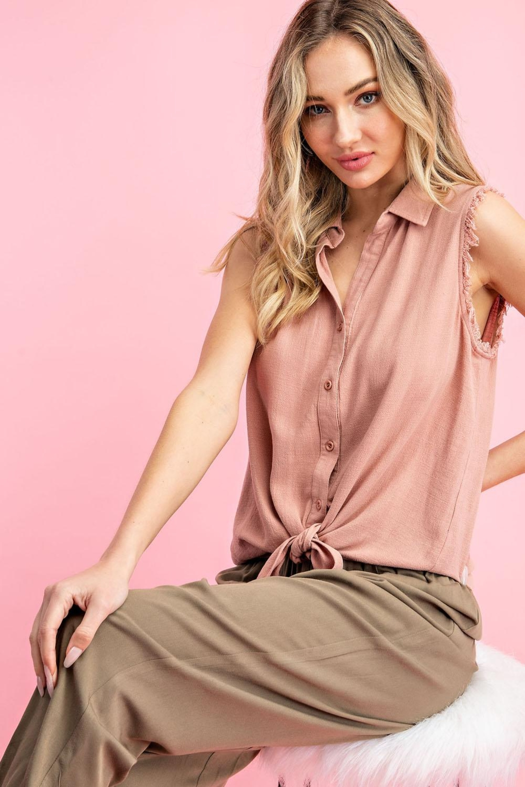 eesome Mauve Tank - Front Full Image