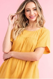 eesome Mustard Babydoll Dress - Other