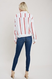 eesome Red And White Button Top - Side cropped