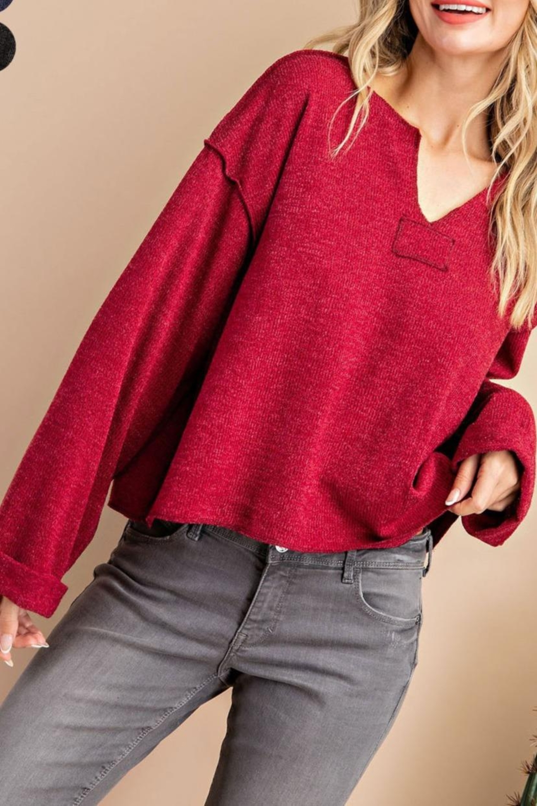 eesome Red Long Sleeve - Front Full Image