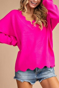 eesome Scalloped Sweater Top - Alternate List Image