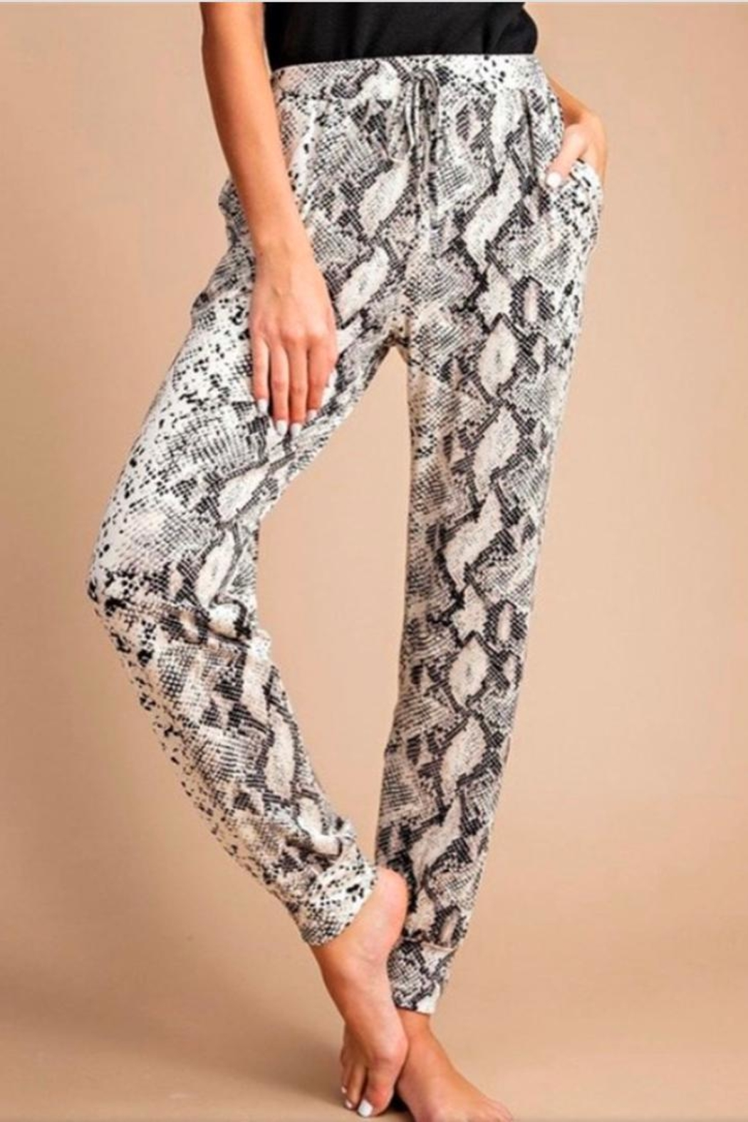 eesome Snake Skin Joggers - Front Full Image