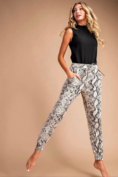 eesome Snake Skin Joggers - Product List Image