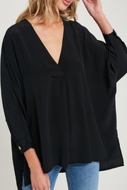 eesome Solid V-Neck Blouse - Product Mini Image