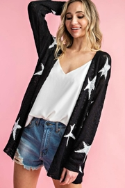 eesome Star Open Cardigan - Product Mini Image