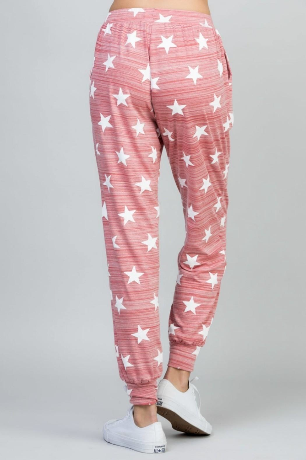 eesome Star Print Pant - Front Full Image
