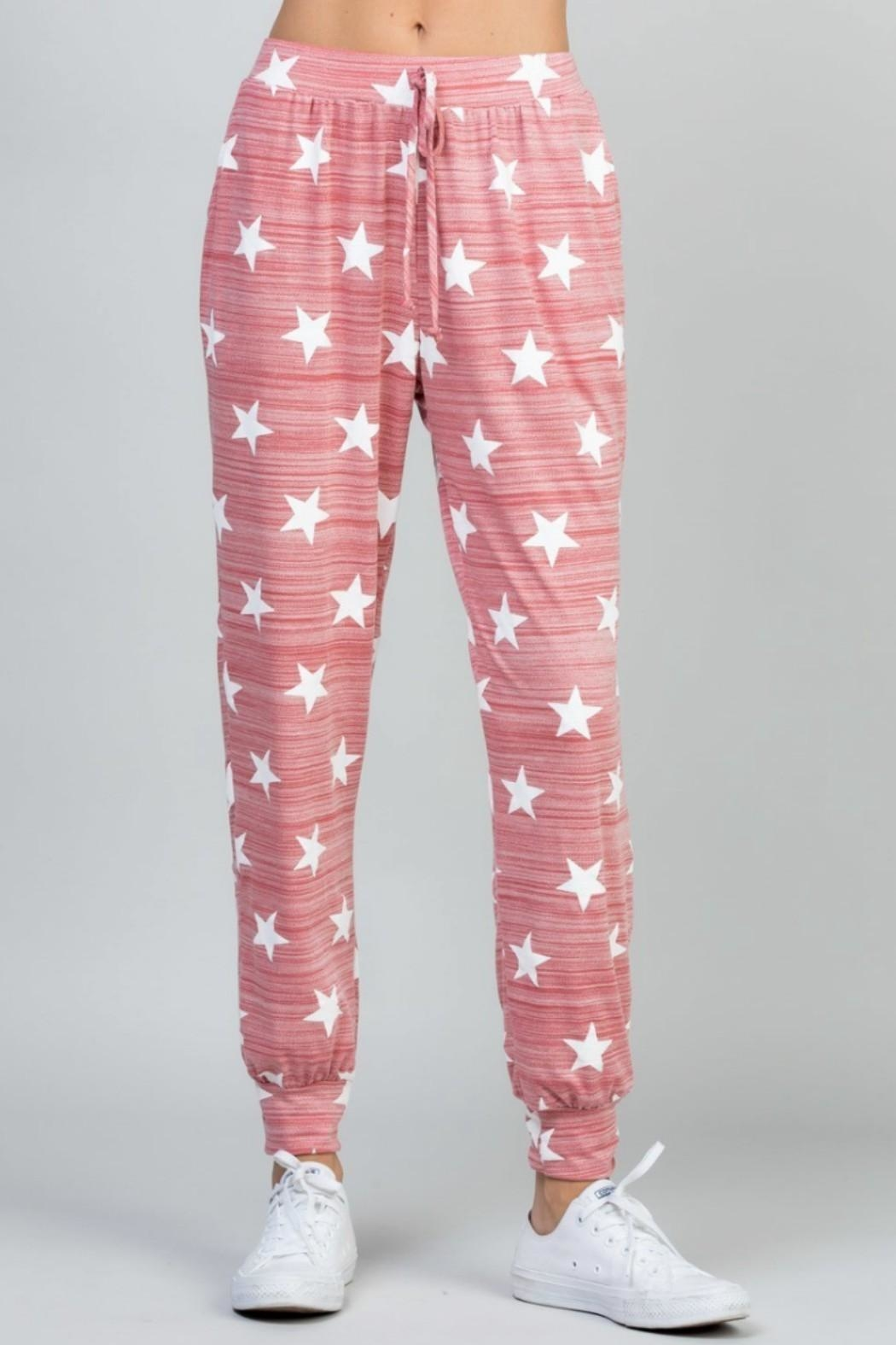 eesome Star Print Pant - Side Cropped Image