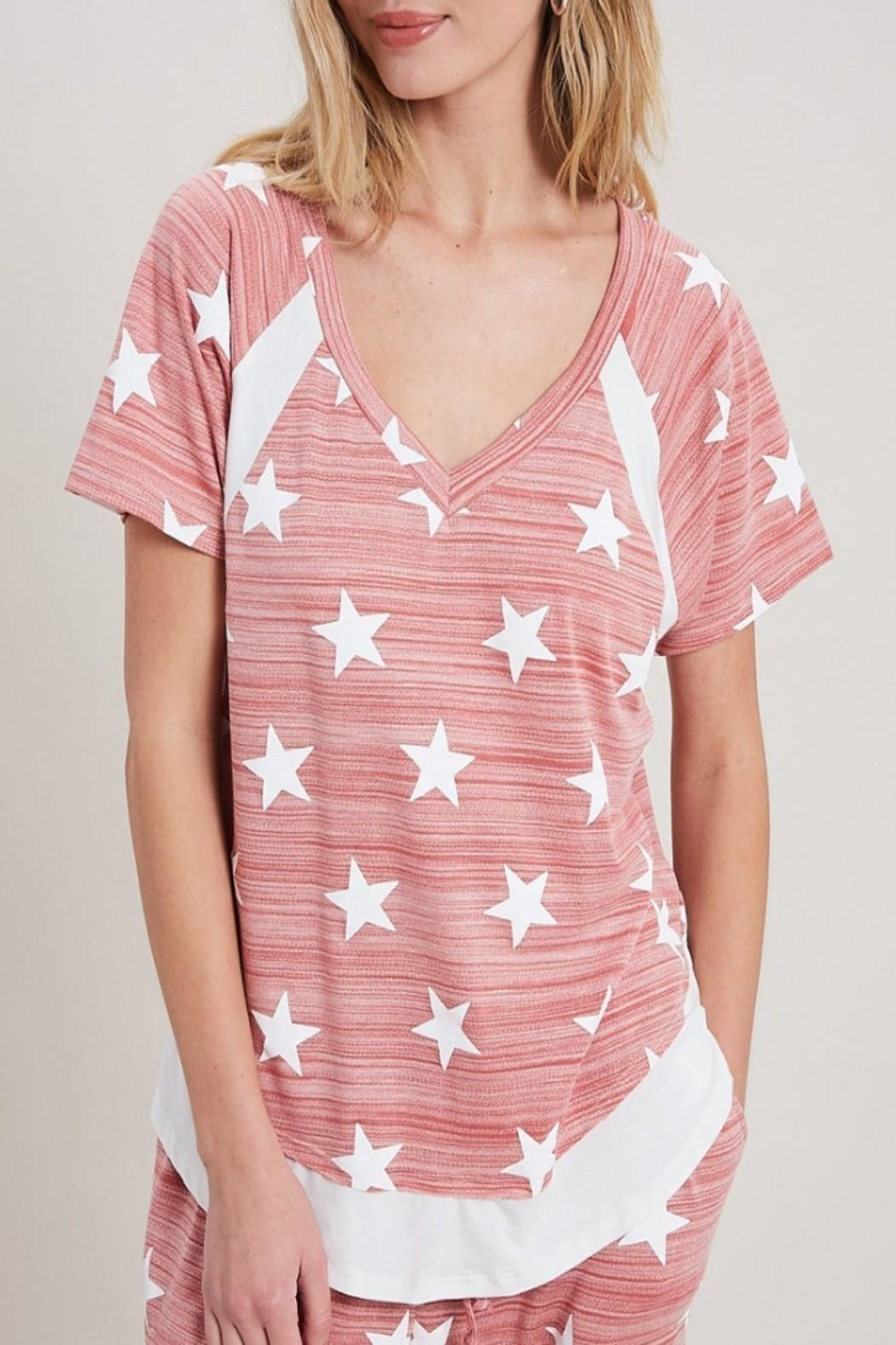eesome Star Print Top - Back Cropped Image